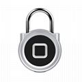 5V Fingerprint Padlock for Backpack, Suitcase, Door, Cabinet, Bike 2