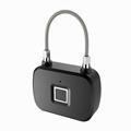 Keyless Intelligent Fingerprint Padlock For Backpacks, Suitcases, Doors,Bike 2