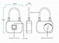 Keyless Intelligent Fingerprint Padlock For Backpacks, Suitcases, Doors,Bike 9