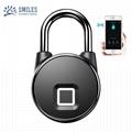Intelligent IP66 Waterproof Keyless Bluetooth Fingerprint Padlock  2