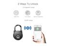 Intelligent IP66 Waterproof Keyless Bluetooth Fingerprint Padlock  8
