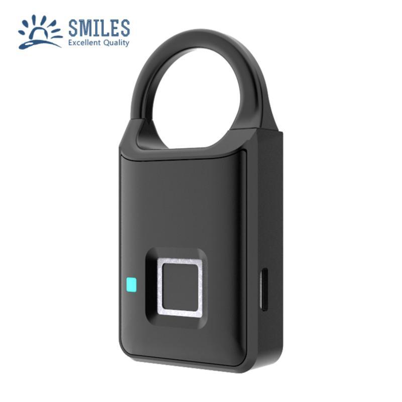 Semiconductor Sensor Small Fingerprint Padlock With USB Charger  1