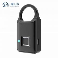 Semiconductor Sensor Small Fingerprint Padlock With USB Charger
