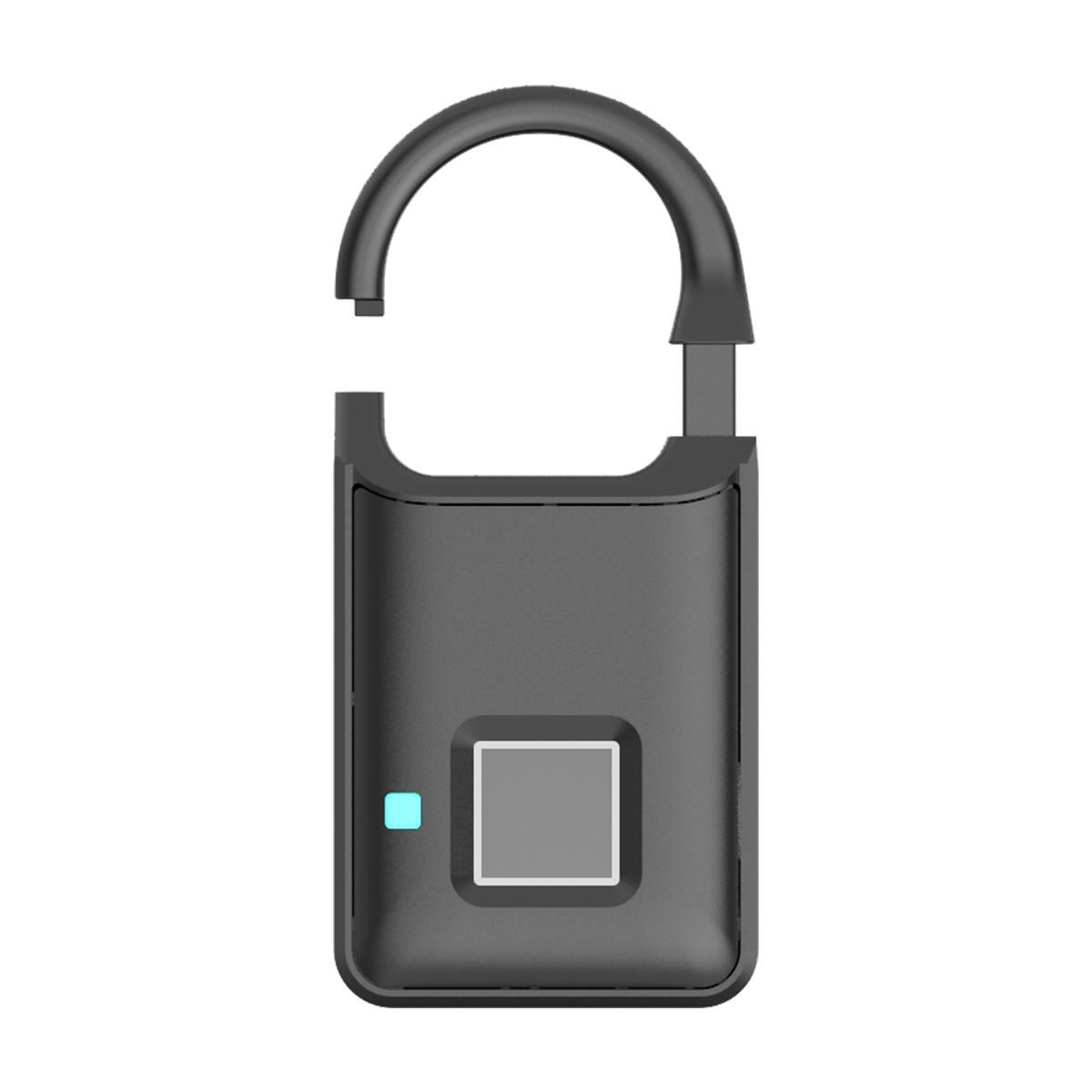 Semiconductor Sensor Small Fingerprint Padlock With USB Charger  5
