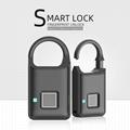 Semiconductor Sensor Small Fingerprint Padlock With USB Charger  7