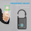 Semiconductor Sensor Small Fingerprint Padlock With USB Charger  9