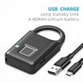 Semiconductor Sensor Small Fingerprint Padlock With USB Charger  11