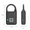 Semiconductor Sensor Small Fingerprint Padlock With USB Charger  14