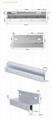 600LBS/280KG Bracket For Fully Frameless Glass Door 4