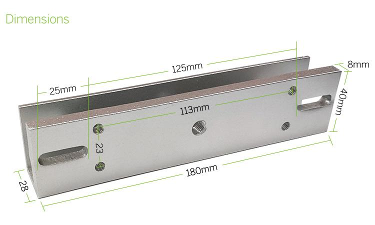 350KG/800LBS U Bracket Clamp For Frameless Glass Door  4