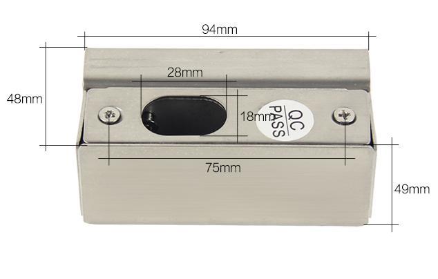 Stainless Steel Small U Bracket  for Frameless Glass Door  3