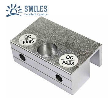 Frameless Glass Door Aluminium  Small U Type Clamp Bracket 1