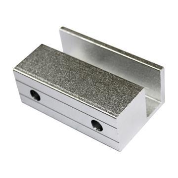 Frameless Glass Door Aluminium  Small U Type Clamp Bracket 2