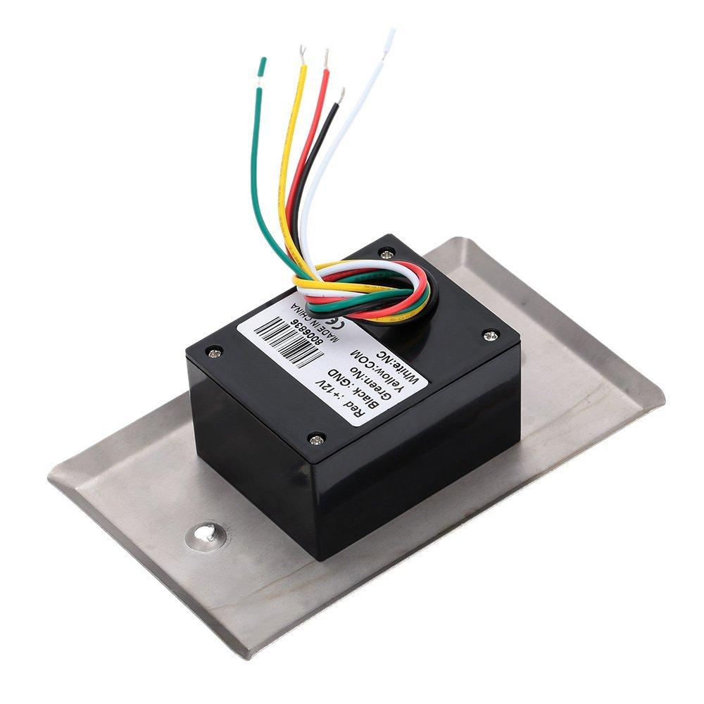 No Touch Infrared Sensor Exit Button For Door Access Control 4