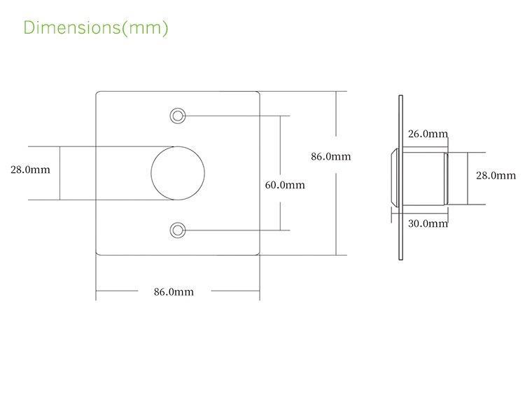 86 Type Square Touchless Sensor Exit Button 5