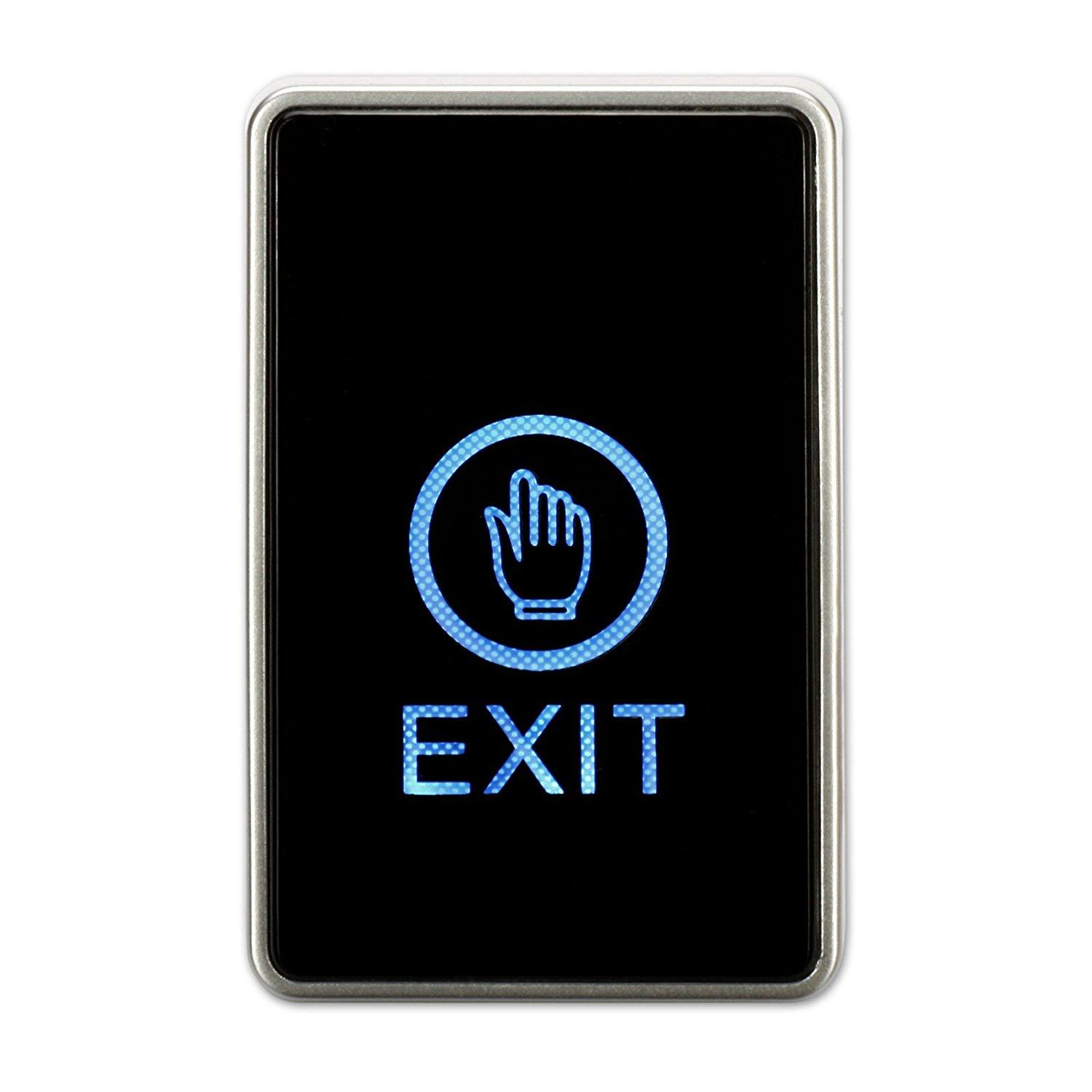 Touch Screen Exit Button For Door Access Control With Led 2