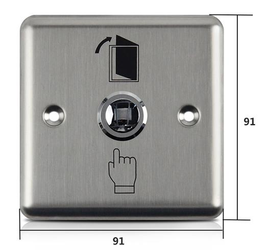 Square Type DC12V Stainless Steel Exit Button 3