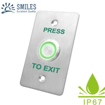 Waterproof SS304 Access Control Exit Button With LED Light 1