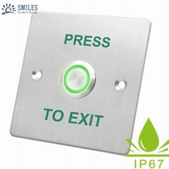 DC12V/24V Waterproof Stainless Steel Exit Button For Access Control System