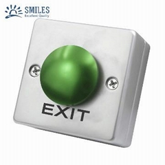 Square Shape Zincy Alloy Mushroom Door Exit Push Button For Access Control Syste
