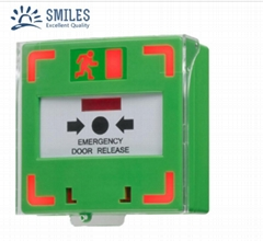 Reset Emergency Door Release Exit Switch Call Point Dual LED with Plastic Cover
