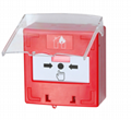 Alarm Reset Switch Call Point with Dual LED and Plastic Cover  2
