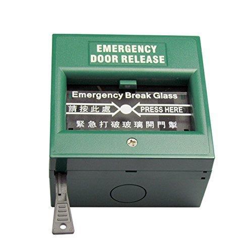 Glass Press Break Green Exit Emergency Door Release Switch For Fire Alarm  2