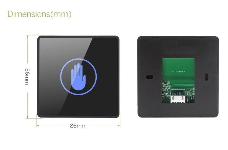 DC12-24V Contactless Hand Wave Exit Button For Access Control System  4