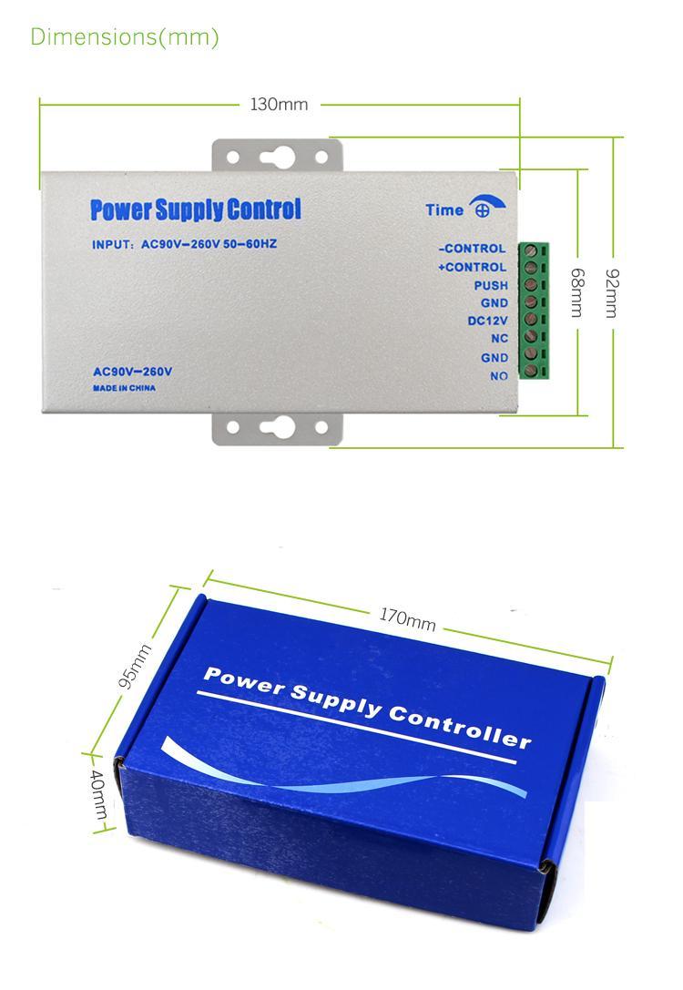 AC110V-240V 5A Mini Switch Access Control Power Supply 4
