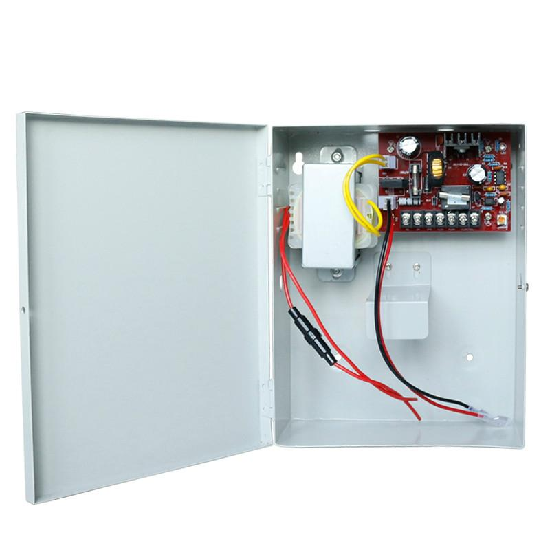 5A 110V Access Control Power Supply Box Support External Backup Battery  2