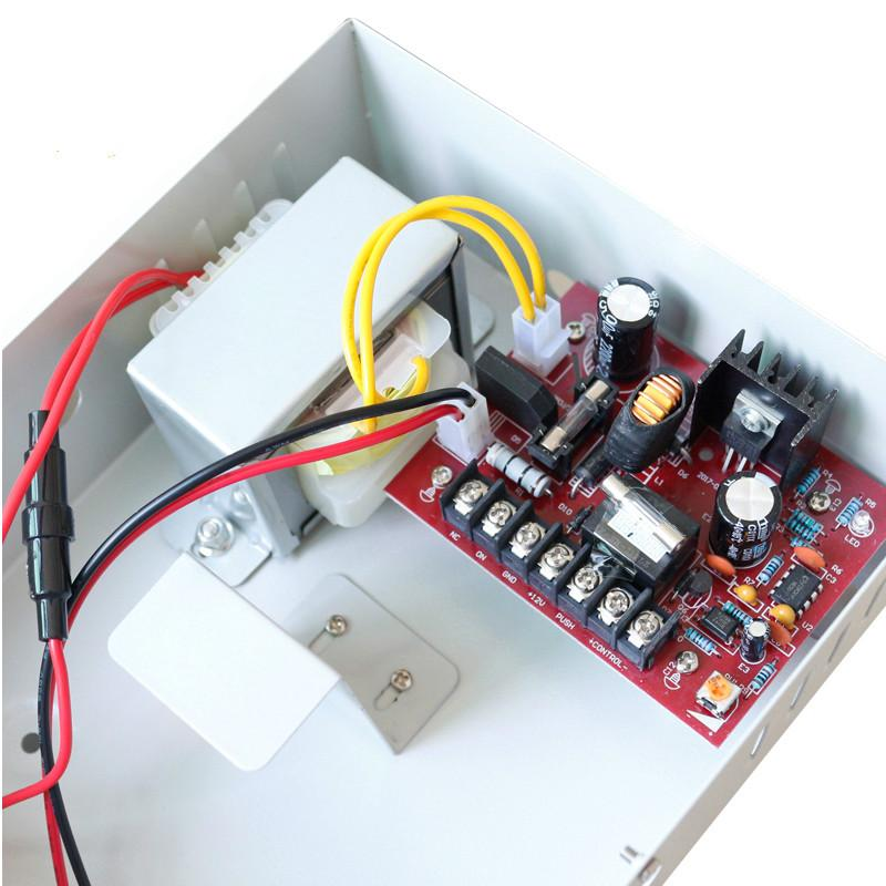 5A 110V Access Control Power Supply Box Support External Backup Battery  3