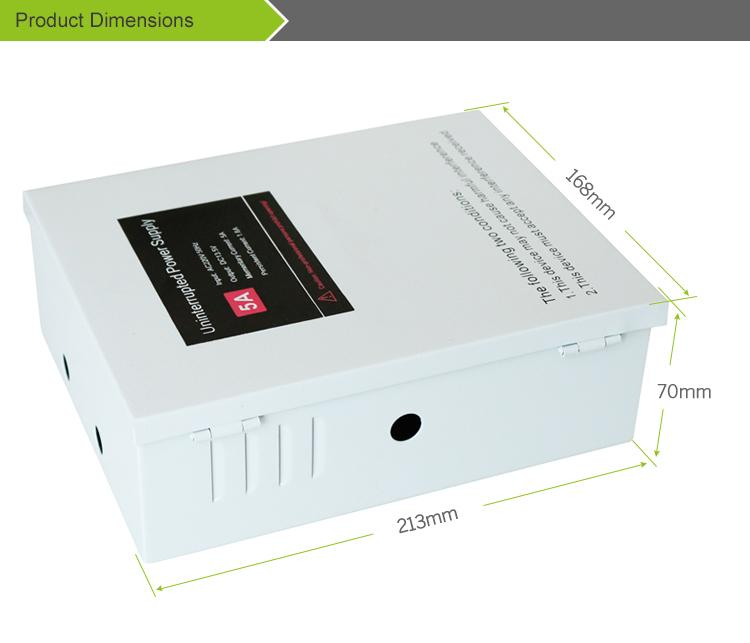 5A 110V Access Control Power Supply Box Support External Backup Battery  4