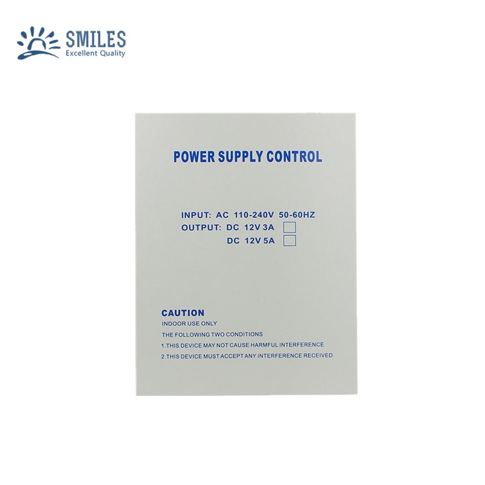 110-240V 5A Access Control Power Supply Box Support Backup Battery 1