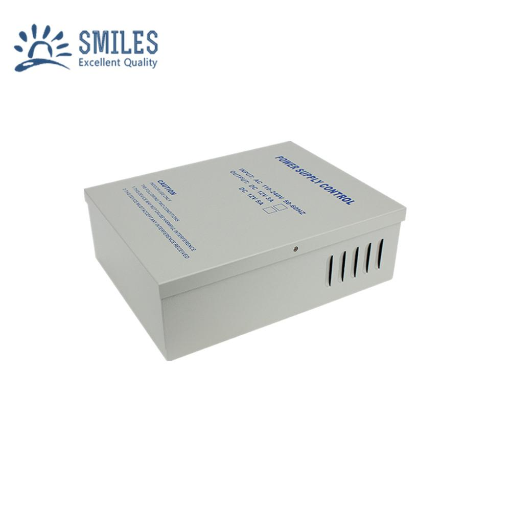 110-240V 5A Access Control Power Supply Box Support Backup Battery 2