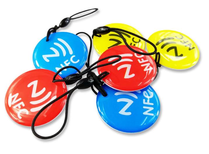 Epoxy Transparent NFC 13.56mhz RFID Keytag for Access Control System  1