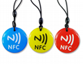Epoxy Transparent NFC 13.56mhz RFID Keytag for Access Control System  2