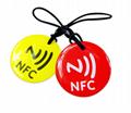 Epoxy Transparent NFC 13.56mhz RFID Keytag for Access Control System  3