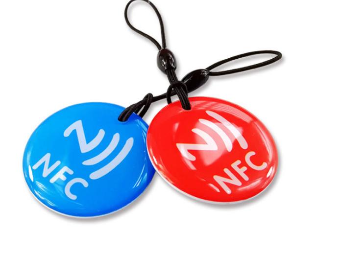 Epoxy Transparent NFC 13.56mhz RFID Keytag for Access Control System  4