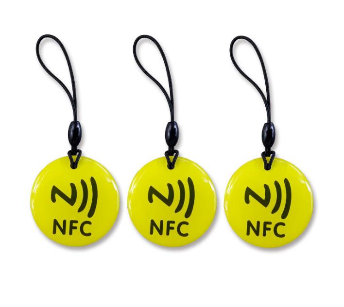 Epoxy Transparent NFC 13.56mhz RFID Keytag for Access Control System  5