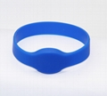 Waterproof 125KHZ RFID EM Silicon Wristbands For Access control  3
