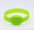 Waterproof 125KHZ RFID EM Silicon Wristbands For Access control  5