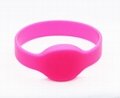 Waterproof 125KHZ RFID EM Silicon Wristbands For Access control  7