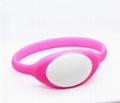 125KHz/13.56MHZ Proximity RFID Bracelets / Silicone Wristband 3