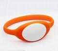 125KHz/13.56MHZ Proximity RFID Bracelets / Silicone Wristband 4
