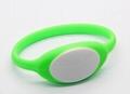 125KHz/13.56MHZ Proximity RFID Bracelets / Silicone Wristband 5