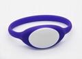 125KHz/13.56MHZ Proximity RFID Bracelets / Silicone Wristband 6