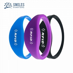 Silicone Soft RFID Bracelet/TK4100 Wristband For Access Control/GYM