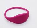 Silicone Soft RFID Bracelet/TK4100 Wristband For Access Control/GYM  7