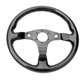 Universal Parts Flat Type Carbon Fiber Steering Wheel For Cars