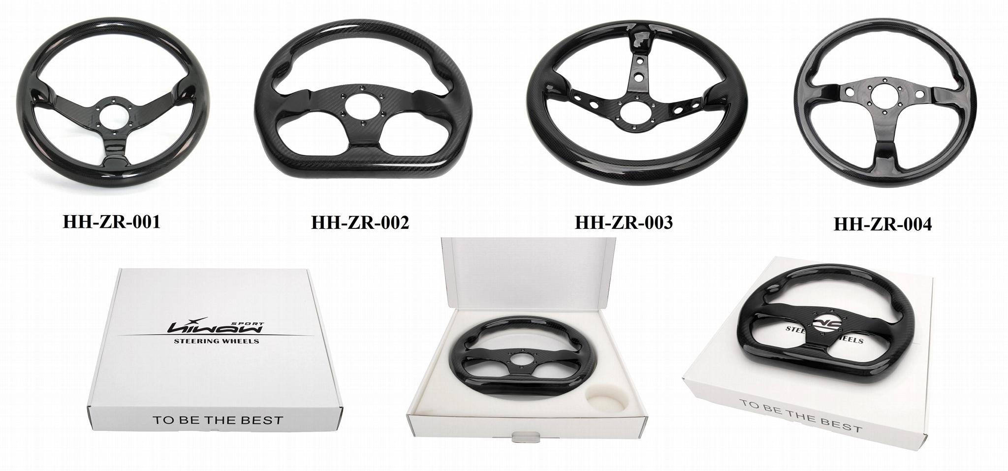 High Quality 320MM Universal Racing Car Carbon Fiber Steering Wheel 5